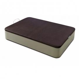 Sommier-Coffre *INITIAL* Similicuir - Hauteur totale 37/38 cm