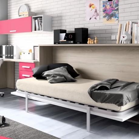 Lit escamotable horizontal 90x190