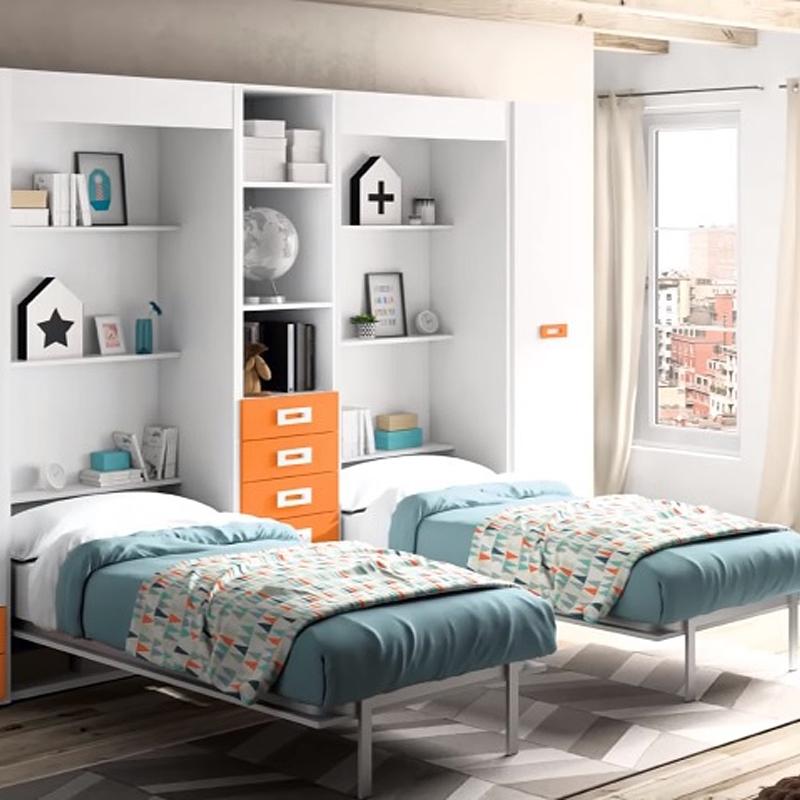 lit escamotable vertical 90x190 mundo descanso. Black Bedroom Furniture Sets. Home Design Ideas