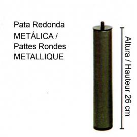 4 PATAS Cilíndricas Metálicas