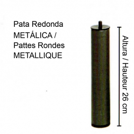 4 PATTES métalliques cylindriques