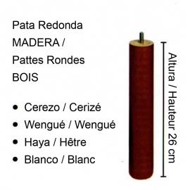 4 PIEDS Cylindriques  Bois