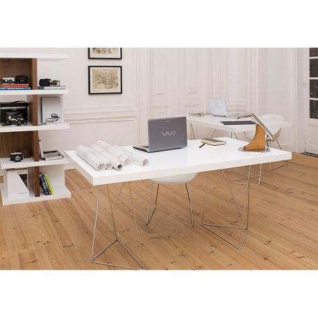 Bureau design TEMAHOME TRESTLES 160 x 90 noyer