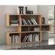 TemaHome LONDON biblioteca diseño 3 niveles blanco con fondos de roble