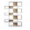 TemaHome LONDON bibliothèque design 7 niveaux Blanc avec fonds Chêne
