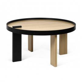 Tema Home Table Basse *BRUNO* -80 gm- Chêne et Métal