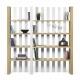 TemaHome BOUNCE biblioteca de diseño 4 niveles roble y blanco