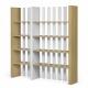 TemaHome BOUNCE bibliothèque design 4 niveaux chêne et blanc