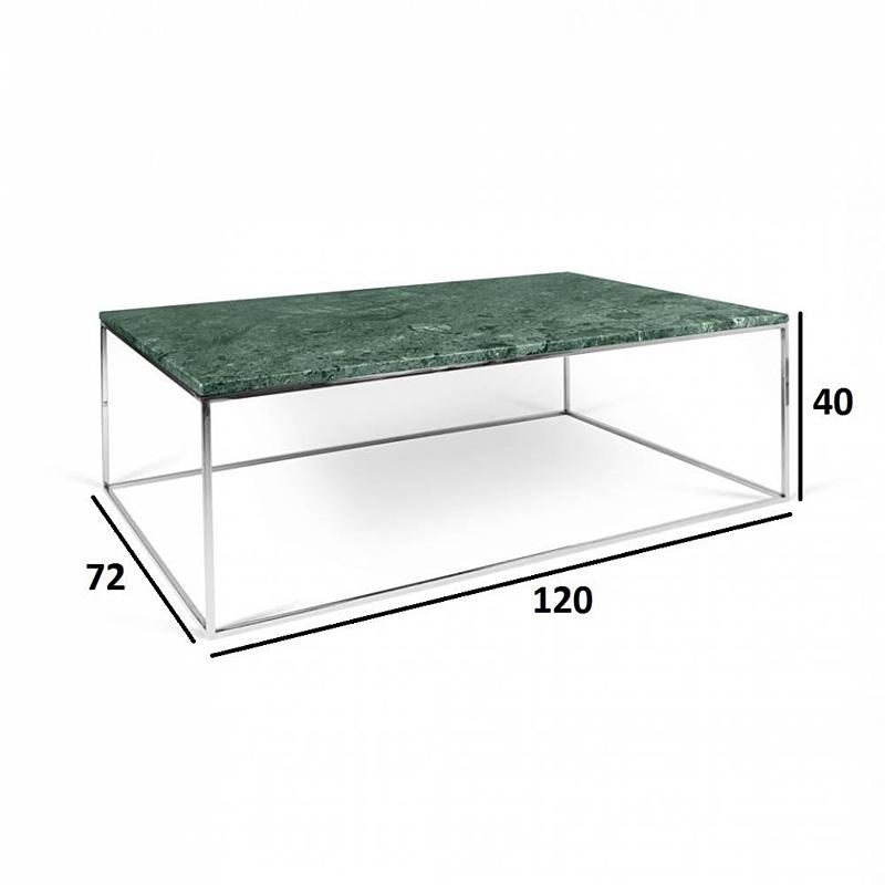 Tema Home Mesa de centro rectangular GLEAM 120 bandeja de mármol ...