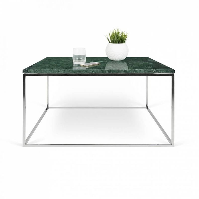 Tema Home Table Basse Rectangulaire Gleam 75 Plateau En Marbre Vert