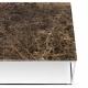 Tema Home Mesa de centro rectangular GLEAM 75 bandeja de mármol marrón marco cromado.