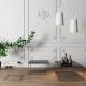 Tema Home Table basse rectangulaire GLEAM 50 plateau en marbre noir structure chromée