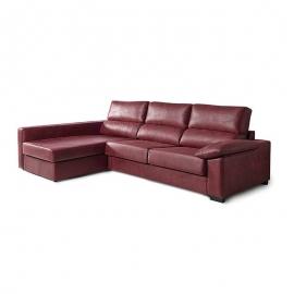 Sofá Cama con chaise longue HUGO 3 Plazas cama 140 x 190