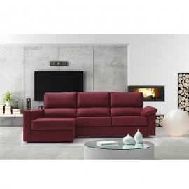 Sofá Cama con chaise longue VALENTINA 3 Plazas cama 140 x 190