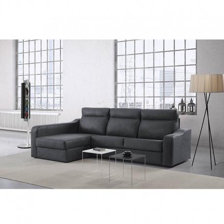 Canapé-lit avec chaise longue CLAUDIA 3 Sièges lit 140 x 190
