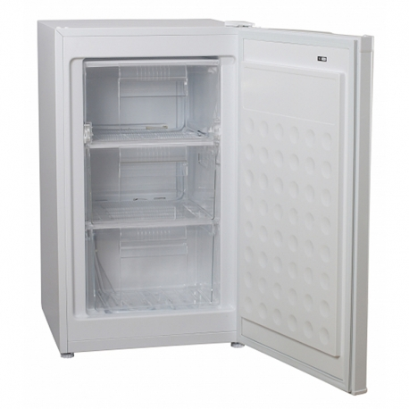 Congelador vertical. color blanco. (AxAxP) 84,5 x 49,4 x 51,5 cm - JCV-66