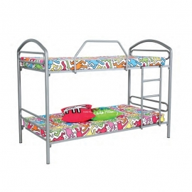 Litera infantil, cama ideal para niños. Color plata