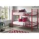 Litera infantil, cama ideal para niños. Color rojo