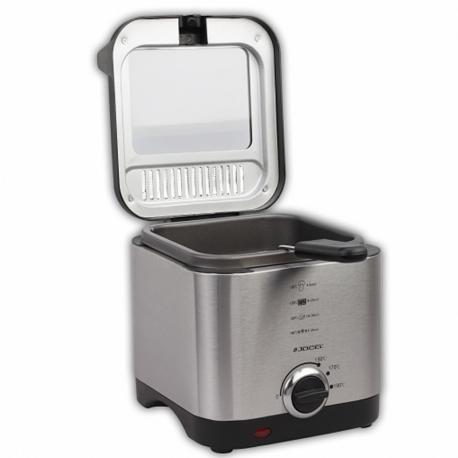 Friteuse en acier inoxydable, capacité 1,5 litres. Réservoir antiadhésif pour un nettoyage facile
