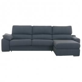 Canapé 2 places ALBA chaiselongue + 2 poufs 240 cm