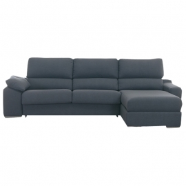 Sofá 2 plazas ALBA chaiselongue + 2 pufs 2.40 cm