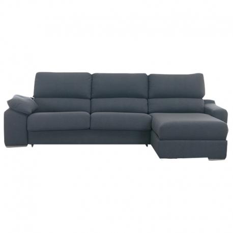 Canapé 2 places ALBA chaiselongue + 2 poufs 2,40 cm