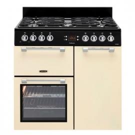 Piano Cocina con gas *LEISURE* 5 fuegos, color crema