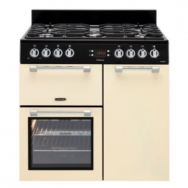 Piano Cocina con gas *LEISURE* 5 fuegos, color crema
