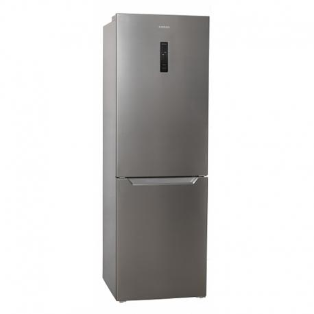 Réfrigérateur combiné *JOCEL* JC-317LNFI (LxHxP) 185,5 x 60 x 68,5 cm - 317L. Total No Frost. A+. Acier inoxydable.