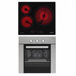 Pack Encastrable Plaque de cuisson vitrocéramique 3 feux + four - multifonction Jocel JPK3ev200174