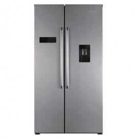 Réfrigérateur américain, No Frost 177 cm - Jocel JSBS014207. Distributeur d'eau, Classe A +, Inox