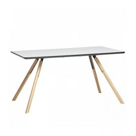 Mesa rectangular LESLY 160 cm color blanco
