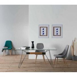 Table rectangulaire NICOLE 160 cm acier2