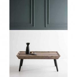 Table basse rectangulaire GISELA 110 cm chêne gris antique