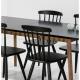 Mesa comedor exterior rectangular TIVOLI roble/negro