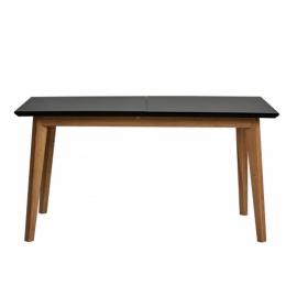 Table à manger d'extérieur rectangulaire en chêne TIVOLI avec noir
