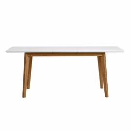 Table à manger d'extérieur rectangulaire TIVOLI chêne / blanc