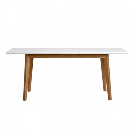 Mesa comedor exterior rectangular TIVOLI roble / blanco