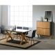 Mesa comedor LEIDI rectangular 160 cm gris antracita/cera