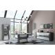 Mesa comedor extensible TIAGO tono blanco y negro perfecto para una decoración elegante.