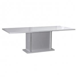 Mesa comedor extensible KARMA tono blanco perfecto para una decoración elegante.