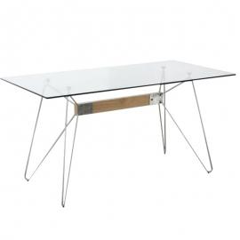 Mesa rectangular NICOLE 160 cm acero2