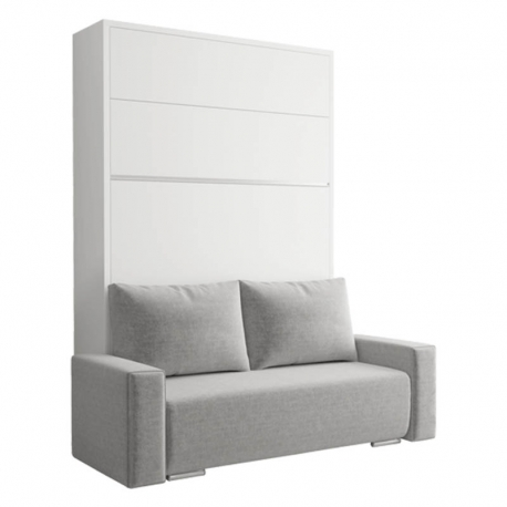 Lit escamotable verticaux avec canapé FALCON - SOFA - 31 couleurs de mélamine au choix